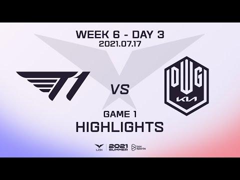 T1 vs DK Highlights Game 1 | Week 6 Day 3 | 2021 LCK Summer Split