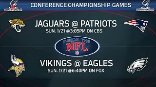 AFC & NFC Championship Preview & Game Picks   Inside the NFL