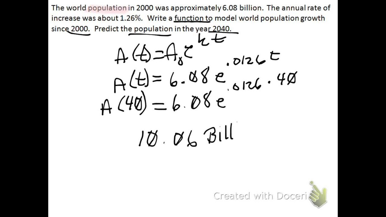 Exponential Growth Amp Decay Word Problems