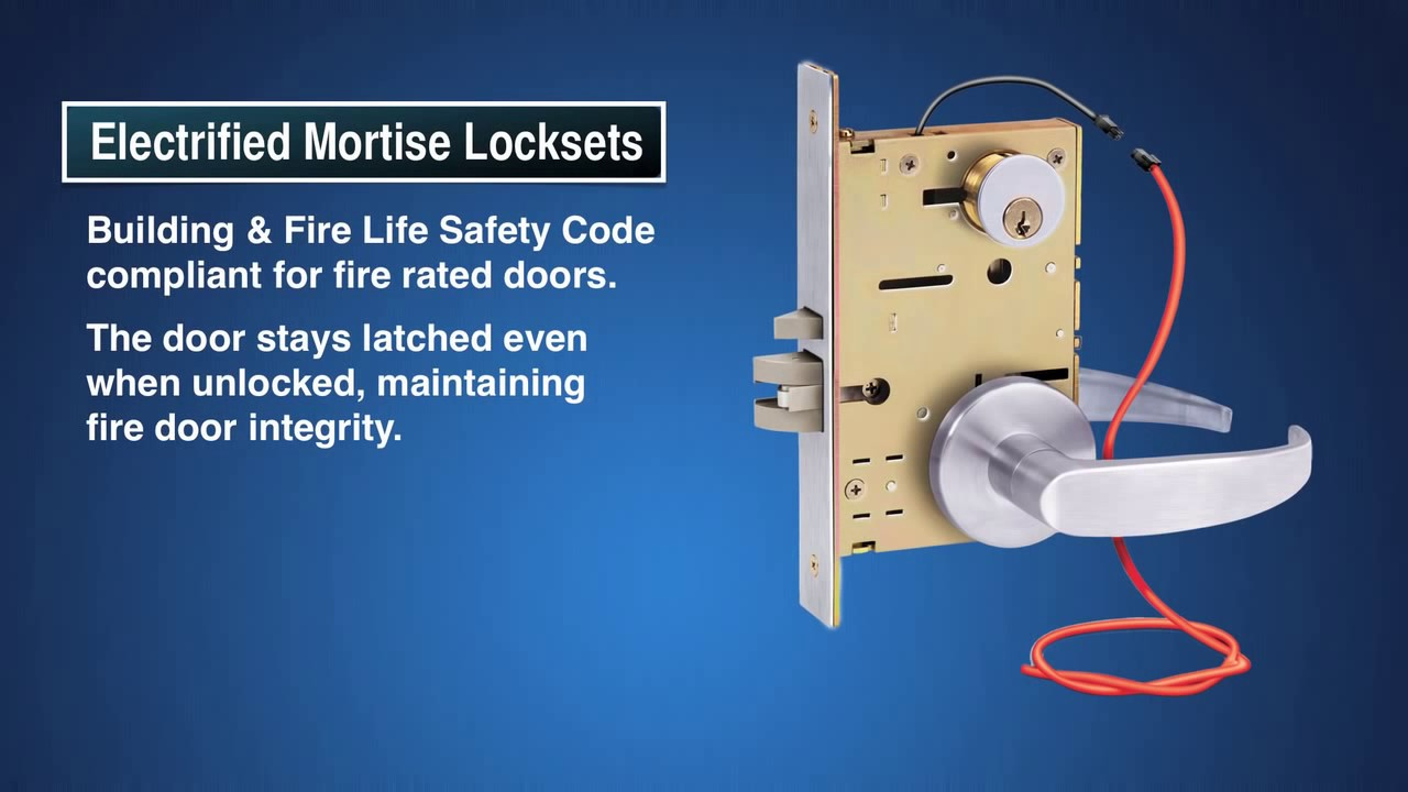 7800 Selectric Electric Mortise Lock Electrified Features