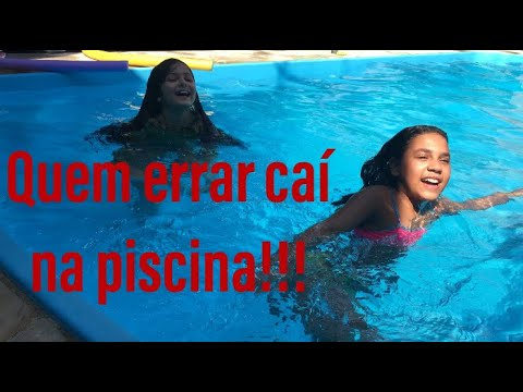 Desafio na piscina! Quem errar caí  na piscina! ▶4:16