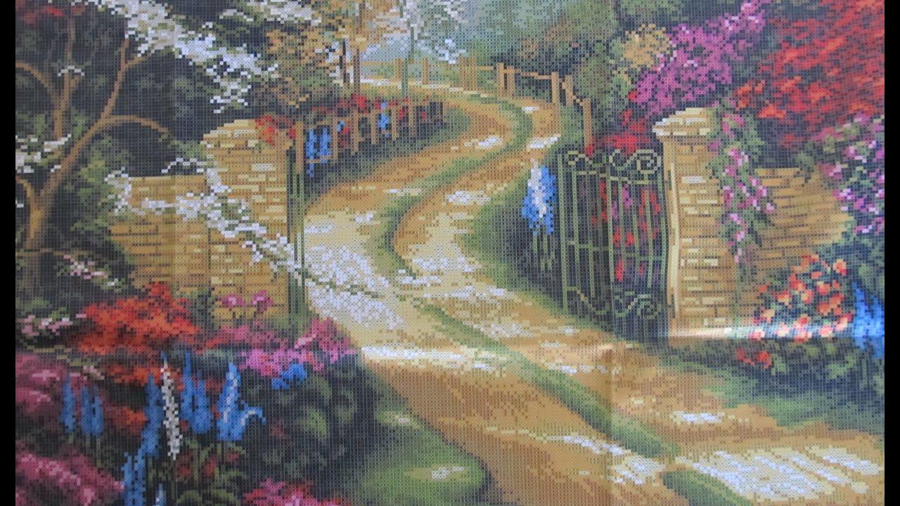 Вышивка бисером. Барвиста вышиванка пейзаж «Ворота».