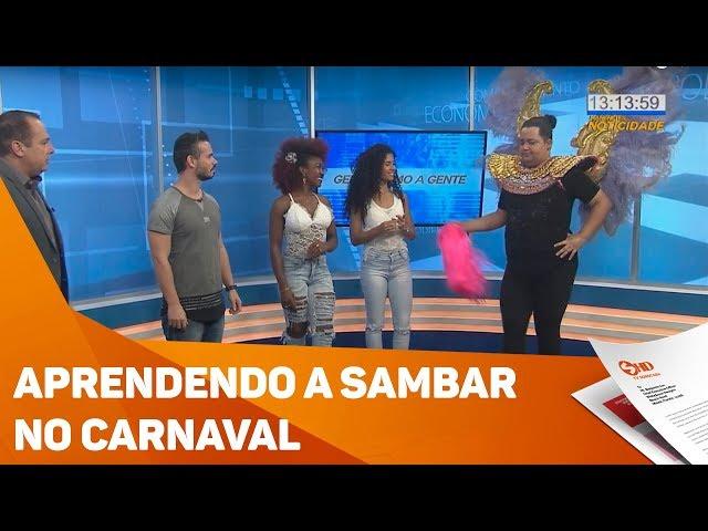 Aprendendo a sambar no Carnaval - TV SOROCABA/SBT