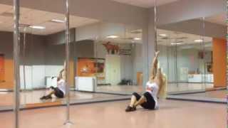 Видео урок Юлия Иринина. Танцевальная связка на пилоне