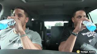 Dude Stuffing His Face | Pre Workout Ritual | Leg Workout | New Wrist Bands | @hodgetwins