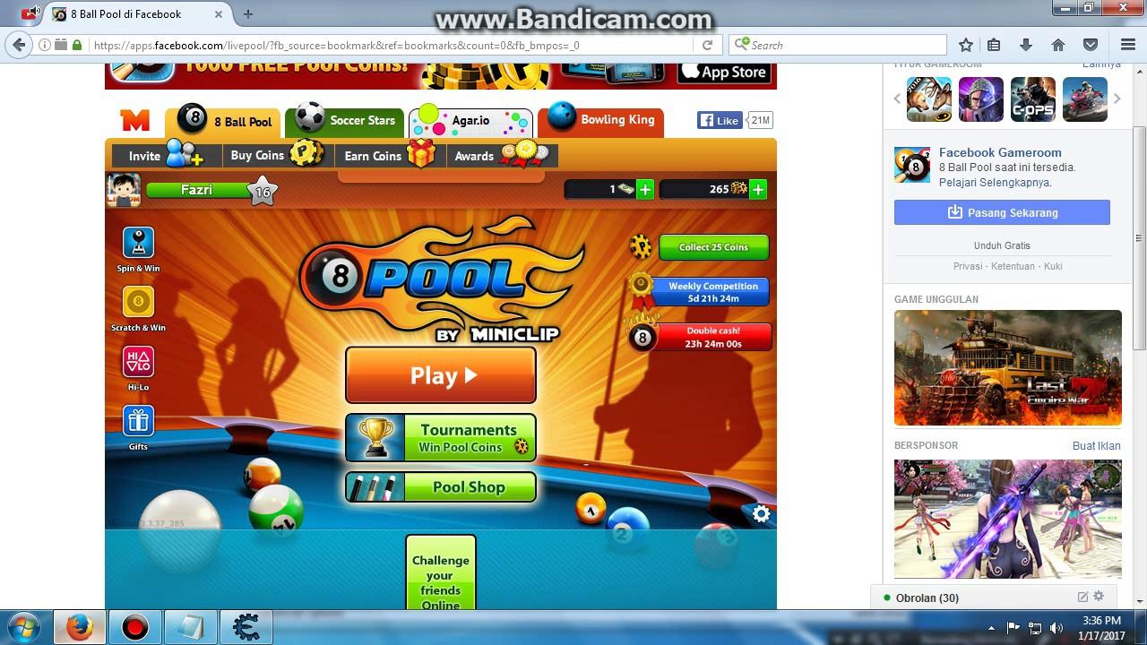 8 ball pool fb coins hack