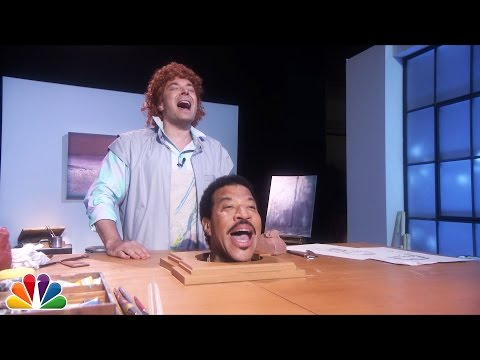 "Thumbnail: Jimmy Fallon Sings ""Hello"" with Lionel Richie's Head"