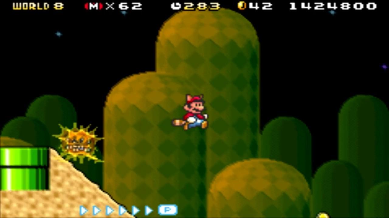 Super Mario Advance 4 - Super Mario Bros 3 (GBA) Level 8-2