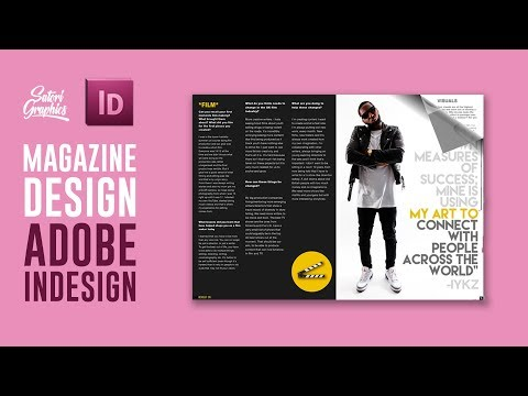 MAGAZINE LAYOUT IN ADOBE INDESIGN TUTORIAL - PHOTOSHOP & INDESIGN - Adobe InDesign Tutorial