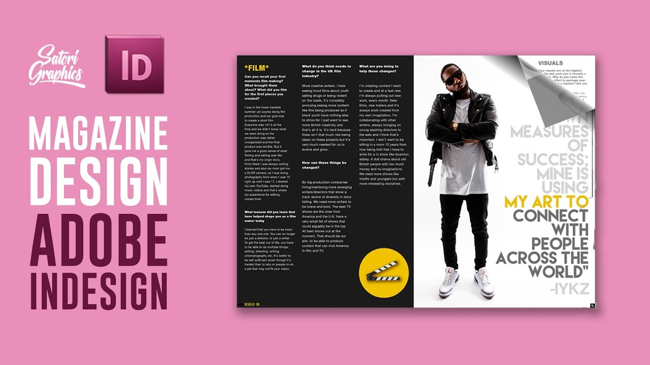 MAGAZINE LAYOUT IN ADOBE INDESIGN TUTORIAL - PHOTOSHOP & INDESIGN ...