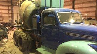 Vintage 1942 Chevy 1935 REX MOTO MIXER Rare concrete Truck Restoration