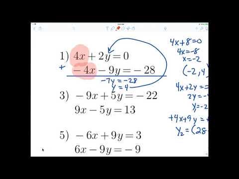 7th grade ALgebra 1 Elimination method