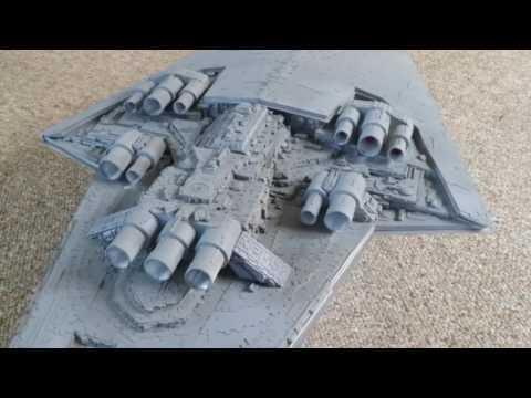 STAR WARS Scratch built 3.11 ft SUPER STAR DESTROYER