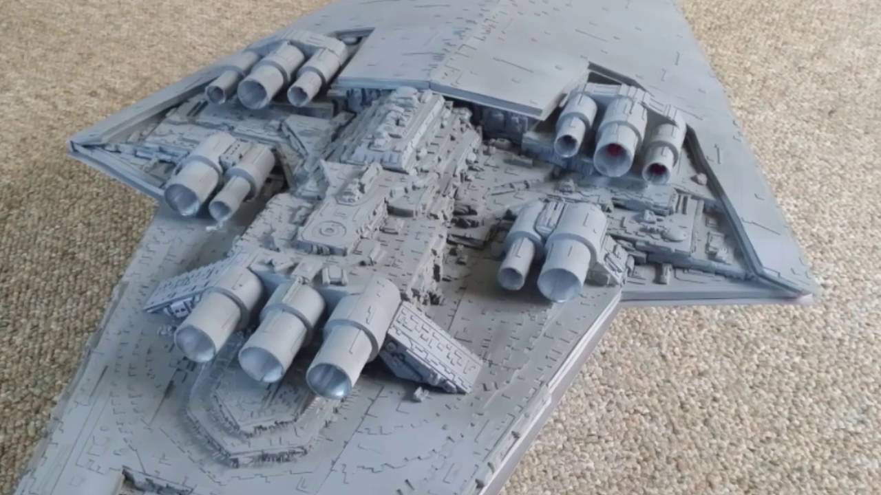 star wars scratch built 3 11 ft super star destroyer youtube