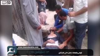 بالفيديو| شد وجذب وإغماءات في سجل مدني البدرشين