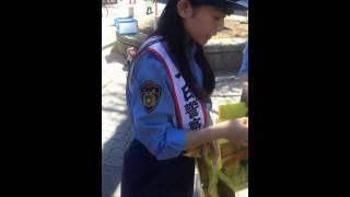 7/22に妙典駅前交番前広場で行われた行徳警察署一日警察署長イベントの...