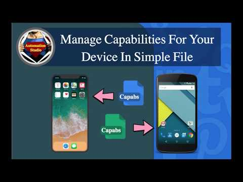 Session 06: Manage Your Device Capabilities In A File Using Appium