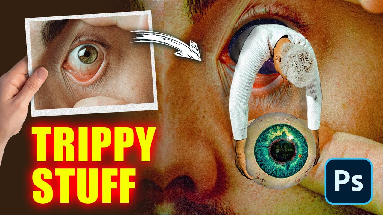 Psychedelic Eye Animation using Photoshop and After Effects