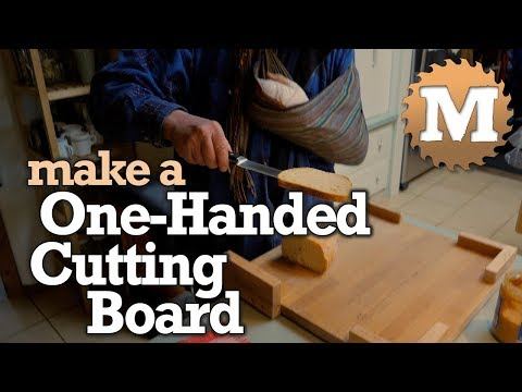 Make a One-Handed Cutting Board - easy diy modification to build a one handed kitchen tool