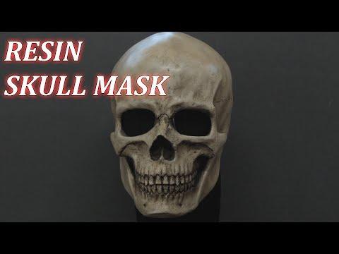 Wearable Resin Skull Mask