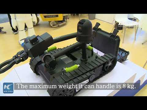 New bomb disposal robot unveiled at Shanghai service robot exhibition