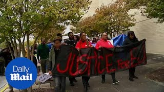 Protesters march in memory of man killed by police at Alabama mall