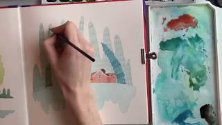 Урок 2. Новогодний лес. Онлайн-марафон с Сашей Балашовой