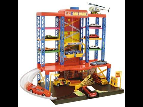 auto parking garages jouets pour les enfants youtube. Black Bedroom Furniture Sets. Home Design Ideas