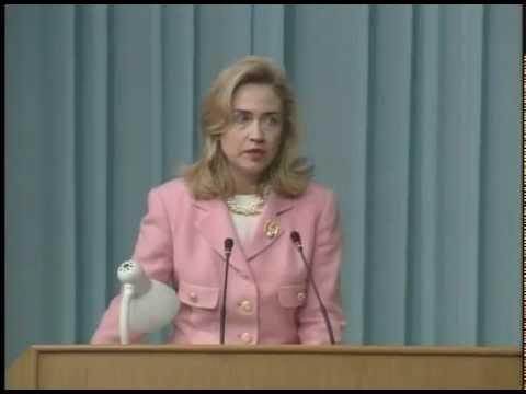 First Lady Hillary Rodham Clinton