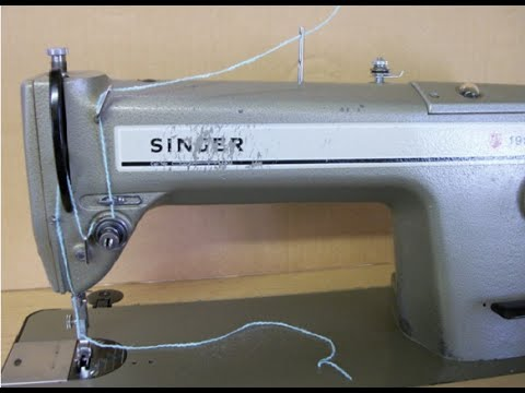 How To Thread A Singer Industrial Sewing Machine YouTube Magnificent Singer Sewing Machine 281 1