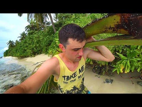 Выживание 24 часа на необитаемом острове.[ 1-Часть ]Строю шалаш Добываю фрукты