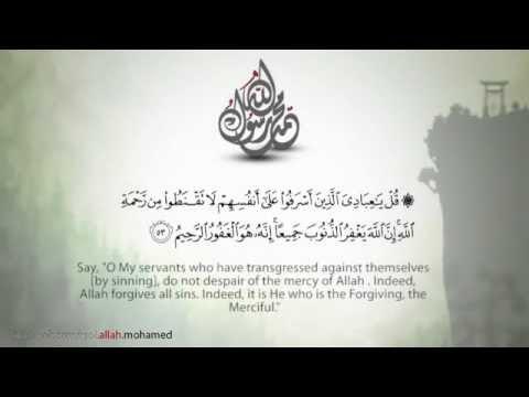 سورة الزمر قل يا عبادي Youtube