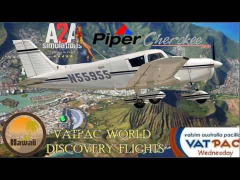 A2A Piper Cherokee over Hawaii Photoreal Oahu