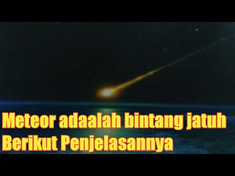Meteor adalah Bintang Jatuh Berikut Penjelasannya