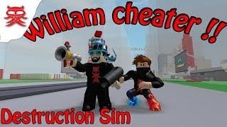 William tricheur - Destruction Sim - Dansk Roblox
