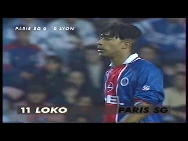 PSG - Lyon D1 1996/1997