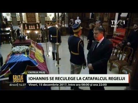 Preşedintele României, Klaus Iohannis, a adus un omagiu Regelui Mihai, la Castelul Peleş
