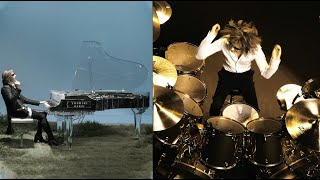 Piano vs. Drums Battle! YOSHIKI stars in WONDA national TV commercial