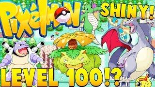 MAX LEVEL 100 (SHINY POKEMON) | Minecraft - Pixelmon Mod Battle