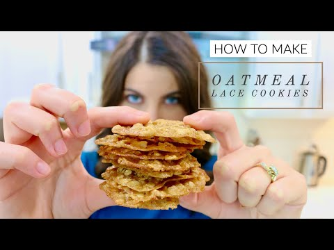 How to Make Oatmeal Lace Cookies | Simple and Easy Recipe