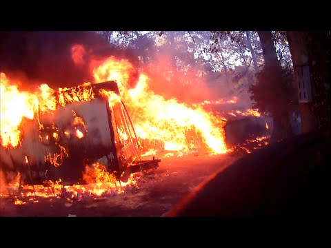 Fully Engulfed Structure Fire Helmet Cam