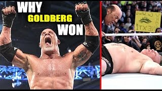 5 Reasons Why Goldberg Went Over Brock Lesnar at Survivor Series