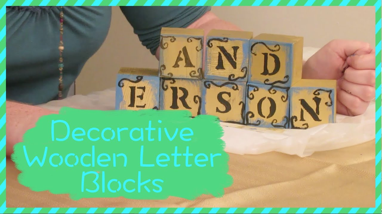 Well-known How To Make Decorative Wooden Letter Blocks - YouTube BZ75