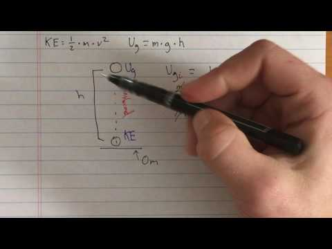 How does height affect velocity using energy