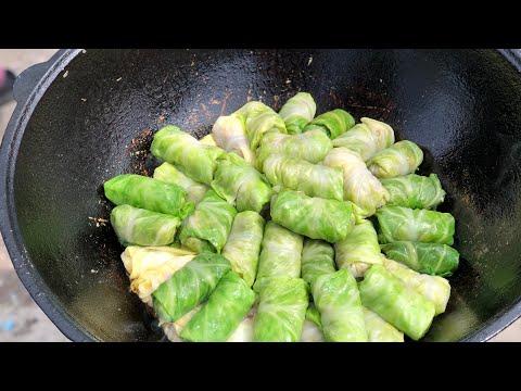 Почему я не знал этого рецепта раньше!!Голубцы по Узбекски из весенней капусты!!Узбекистан.