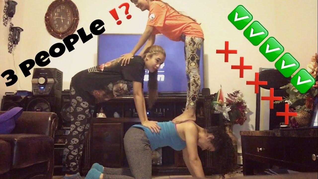 three people yoga challenge youtube