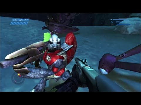 Halo 1 - How To Make A Fuel Rod Grunt Lose His Weapon