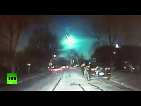 Green meteor sighted across US upper Midwest