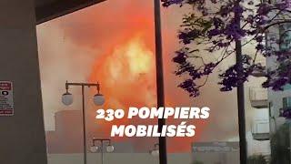 11 pompiers blessés dans un impressionnant incendie à Los Angeles