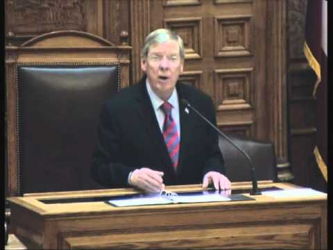 Senator Johnny Isakson Addresses Senate